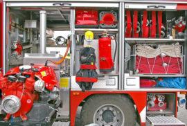 Foto scattata durante un corso di aggiornamento per formazione antincendio