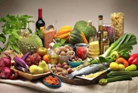Alimenti frutta verdura e pesce