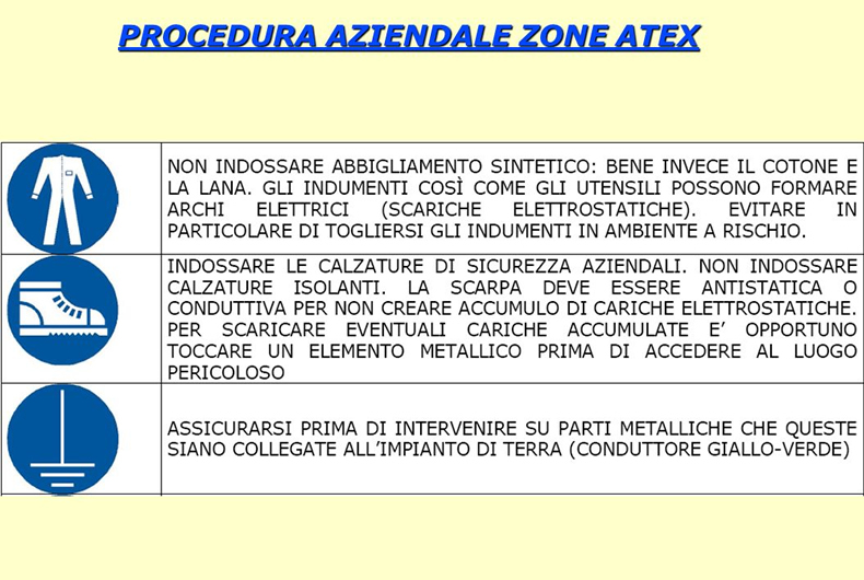 procedura aziendale zone atex