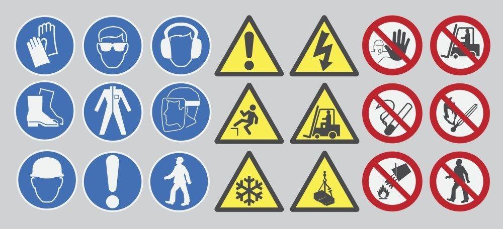 principali segnali sicurezza lavoratori